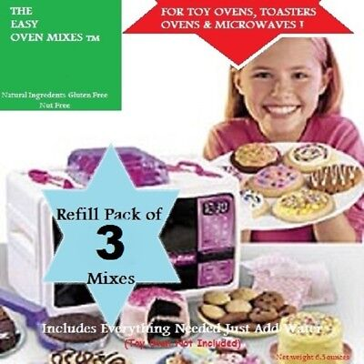 Mojo's Easy Bake Oven Mixes 3 Pack Sugar Cookies, Brownies & Cake Refill