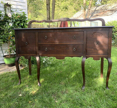 Antique Furniture Antique Buffet With Mirror
