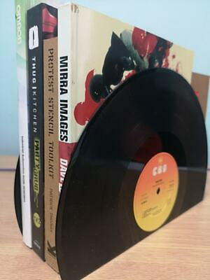 """12"""" or LP Vinyl Record Bookends Vintage Recycled Upcycled Unique Gift"""