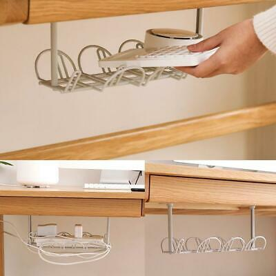 Under Desk Cable Management Tray Organizer Storage Charger Wire Power Cord V4W6