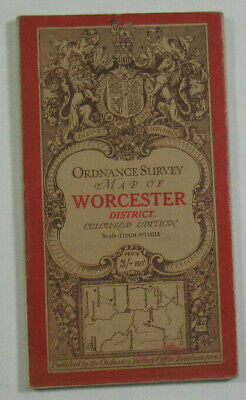 1908 Old OS Ordnance Survey Third Edition One-Inch Map Worcester Malvern Distric