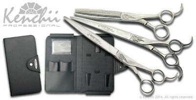 Kenchii Grooming Jonathan David Signature Shears - Straight, Curved, 40T, or Set