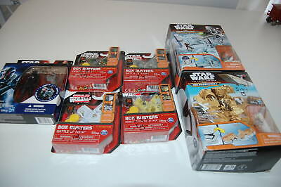 Mixed Star Wars Playset Lot Micro Machines, Box Busters, First Order Pilot