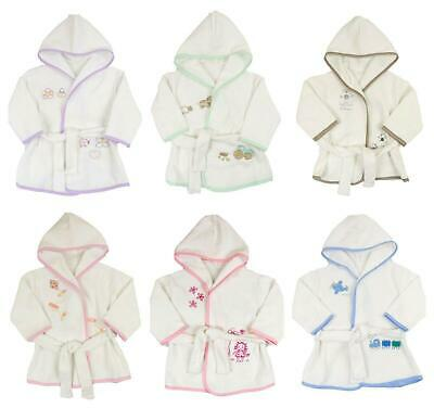 Baby Bathrobe Dressing Gown Pure Terry Toweling 6 Months to 3 Years
