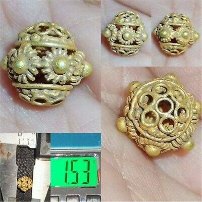 Ancient Roman Wonderful Unique High carat gold Lovely Bead  # 24