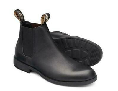 Men's Blundstone City Dress Pull On Boot With Round Toe BL 1901 Black Leather