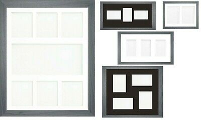 Grey Multi Aperture Photo Picture Frame & Mount With Choice Of 23 Mounts Design
