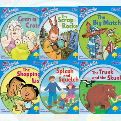 NEW Oxford Reading Tree 6 Books Level 3 Songbirds Phonics Set Julia Donaldson