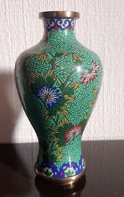 Antique Late 19Th Century Fine Quality Chinese Cloisonne  Vase