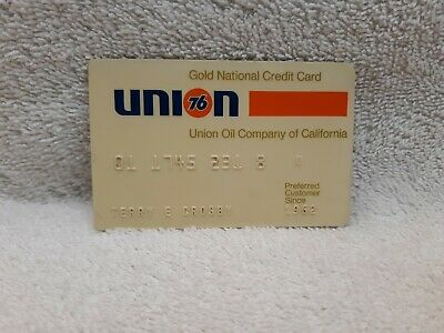 vintage gas company credit cards  UNION national 1962