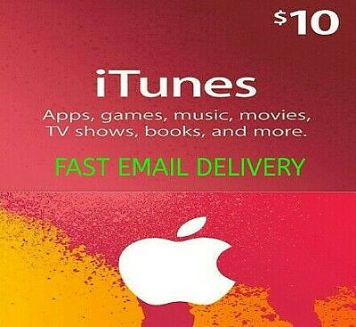 Apple iTunes Gift Card 10$ 🔥 Fast Delivery 🔥