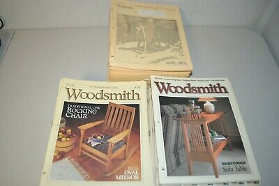 Lot of 100 Woodsmith Magazine From Year 1979 thur 1996