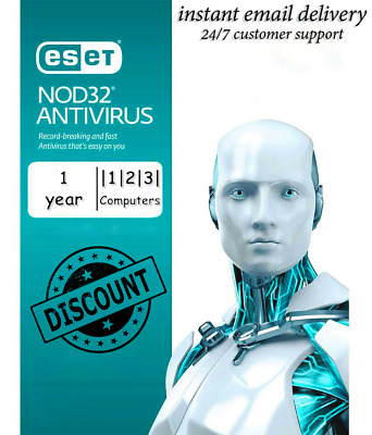 Eset NOD32 Antivirus 2019 FOR 1-2-3PC / 1YEAR (ACTIVATION CODE)