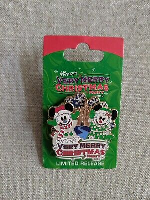 WDW Mickey's Very Merry Christmas Party 2010 Logo Spinner Disney Pin
