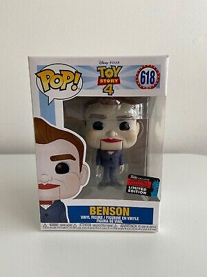 Funko Pop! Disney: Toy Story 4 - Benson, Fall Convention Exclusive! #618 BNIB