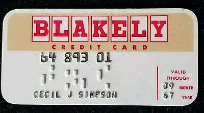 1967 Blakely Oil Company Arizona credit card ♡Free Shipping♡cc152♡ small size