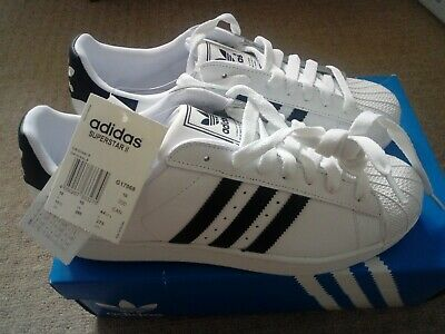 adidas superstar brand new with tags size 10 trainers in white/black