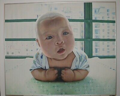 Japanese Baby Oil Painting Large Contemporary Artist