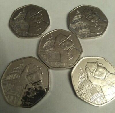 5 x Paddington Bear St Pauls Cathedral 2019 Uncirculated 5 coins from sealed bag