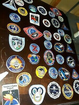NASA Patches lot of 25 Space Shuttle,Mission,apollo,Columbia,space program mixed