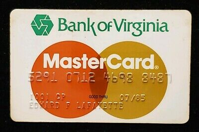 1985 Bank of Virginia GINNY MasterCard  ♡Free Shipping♡cc163♡