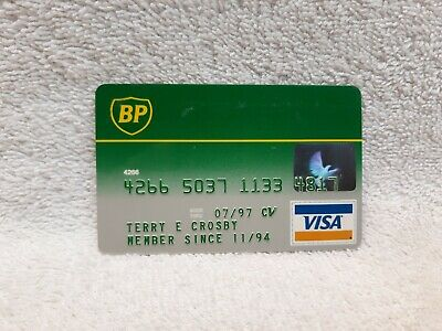 vintage gas company credit cards BP Oil Company 1994