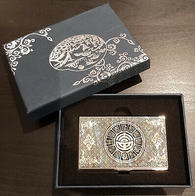 """Chinese Vintage """"BA GUA"""" Style Name Card Holder"""