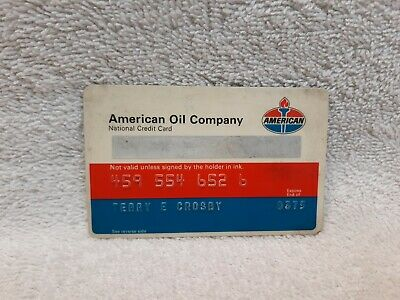 Vintage AMERICAN OIL COMPANY CREDIT CARD 1975 Standard Gas Service Station