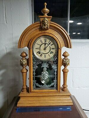 Vintage Ansonia Mantle Wind Up Clock Made In USA New York Works Ansonia Clock...