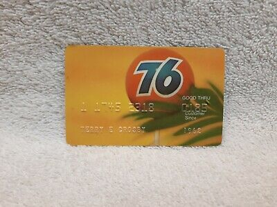 "Vintage UNION OIL ""76"" CREDIT CARD - 80s gas/service/station company/california"