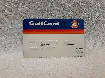 Vintage Gulf Oil Logo Travel Credit Card Gas Station 1988 #00001