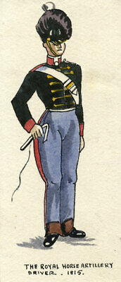 British Army Uniform: Royal Horse Artillery Driver 1815 – Early C20th painting