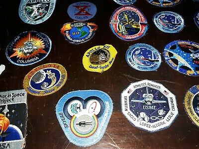 NASA PATCHES LOT of 25 Space Program Shuttle,Mission,apollo,Columbia unfinished