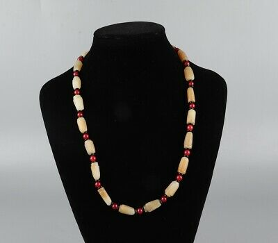 Chinese Exquisite Hand-carved Hetian jade necklace