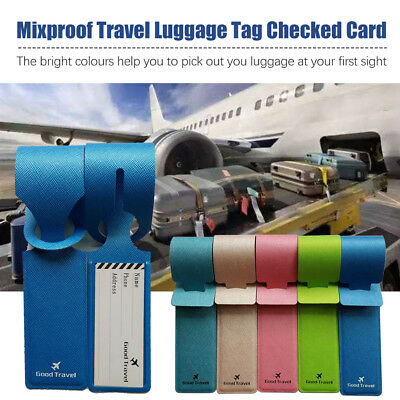 4PCS Luggage Tags Suitcase Label Name Address ID Bag Baggage Tag Travel H7