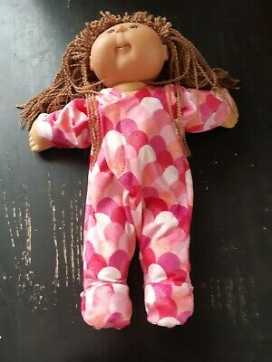 Homemade Cabbage Patch Doll Pink Minky Fleece Coverall Pyjamas