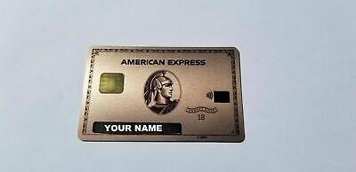 Custom Name - American Express Rose Gold - Metal Card - Limited Edition
