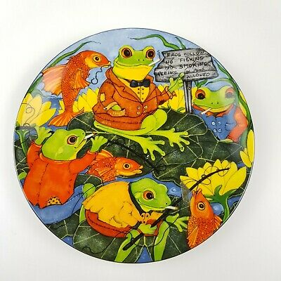 Frog Plate Comical Frogs 'Frogging The System' Priscilla Parker Australian China