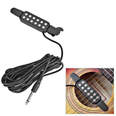 12 Hole Clip On Sound Pickup Microphone Amplifier Speaker Guitar Transducer Wo