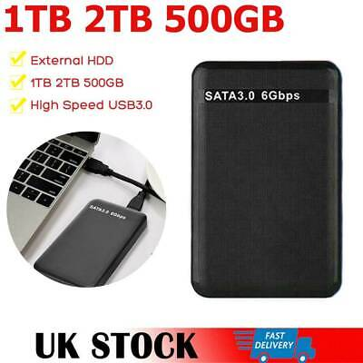 USB 3.0 2TB 1TB 500GB External Hard Drive Disk HDD 2.5'' PC Laptop Portable UK