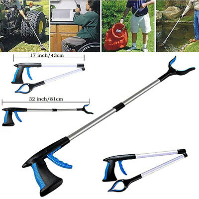81cm Extending Grabber Arm Litter Picker Grab Claw Pick Up Rubbish Hands Tool