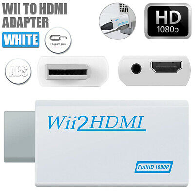 Wii HDMI Adapter 1080p Wii to HDMI Converter 3.5mm HD Video Output Adapter Audio