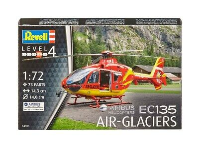 EC135 Air-Glaciers Elicottero Helicopter 1:72 Plastic Model Kit REVELL