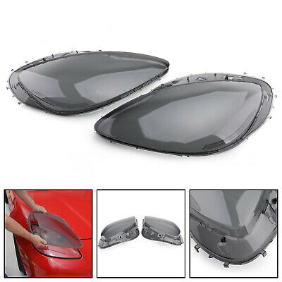 Pair Left&Right Head Light Lenses Replacement Covers For 05-13 C6 Corvette Smoke