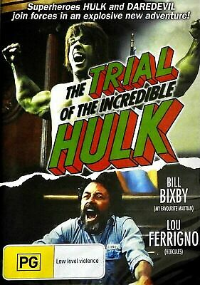 The Trial Of The Incredible Hulk : NEW DVD : Lou Ferrigno :