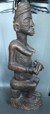 Old (Early 20Th Century) African Dogon Ancestor / Fertility Statue.