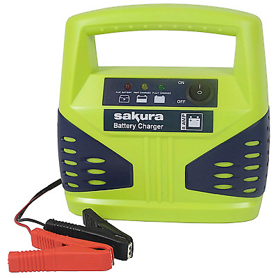 12 Volt 8 Amp Heavy Duty Car Van Bike Battery Charger up to 2.5L LED Compact