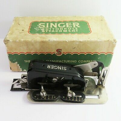 Vintage Singer Sewing Machine Buttonhole Attachment 86662, England