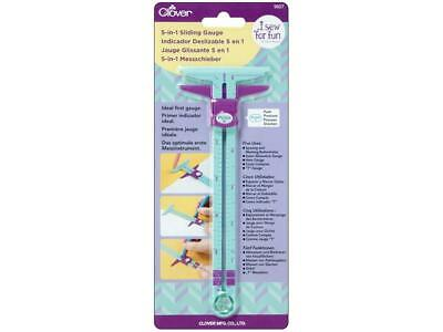 Clover Clo9607  I Sew For Fun 5-In-1 Sliding Gauge