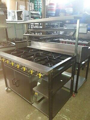 Refurbished Used Commercial 7 Burner Asian Cooker With Oven